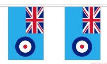 RAF ENSIGN BUNTING - 18 METRES 30 FLAGS